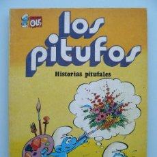 Tebeos: COLECCION OLE 9 - LOS PITUFOS - HISTORIAS PITUFALES - PRIMERA 1ª EDICIÓN - 1980 COMIC BRUGUERA. Lote 38259754