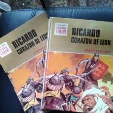 Tebeos: RICARDO CORAZÓN DE LEÓN #1 HISTORIAS COLOR BRUGUERA JOSEPH LACIER CON FUNDA CARTÓN TAPA DURA. Lote 38332067