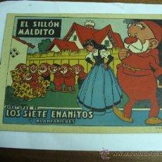 Tebeos: LOS SIETE ENANITOS Y BLANCANIEVES / EL SILLÓN MALDITO / BRUGUERA ORIGINAL. Lote 38347339