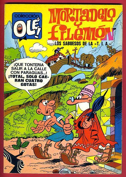 MORTADELO Y FILEMON , Nº 45 , LOS SABUESOS DE LA TIA , NUMERO EN LOMO, 1ª EDICION 1971 , ORIGINAL (Tebeos y Comics - Bruguera - Ole)
