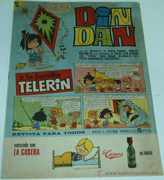 DIN DAN CON TELERIN Nº 50 - ORIGINAL (Tebeos y Comics - Bruguera - Din Dan)