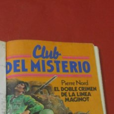 Tebeos: CLUB DEL MISTERIO. EL DOBLE CRIMEN DE LA LINEA MAGINOT. PIERRE NORD. ED. BRUGUERA Nº 29. . Lote 38521457