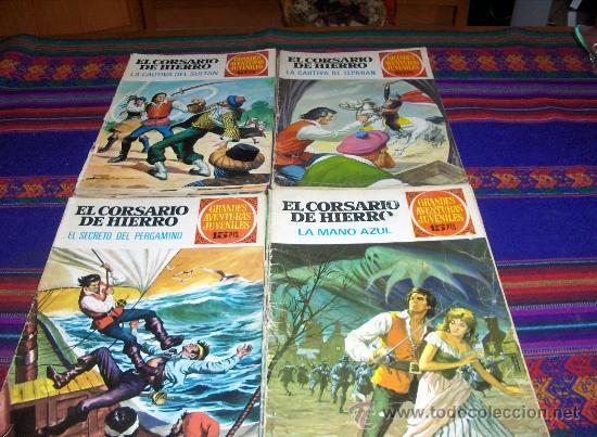 CORSARIO HIERRO 1 3(2) 5(2) 7 9 11(2) 15(2) 19(2) 25(2) 29(2) 33 37 45 49 53 57(2) 65(2) 69. SUELTOS (Tebeos y Comics - Bruguera - Corsario de Hierro)