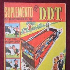 Tebeos: SUPLEMENTO DE HISTORITAS DE EL DDT Nº 1. BRUGUERA 1959. CON AVENTURA INEDITA DEL JABATO TEBENI. Lote 38912987