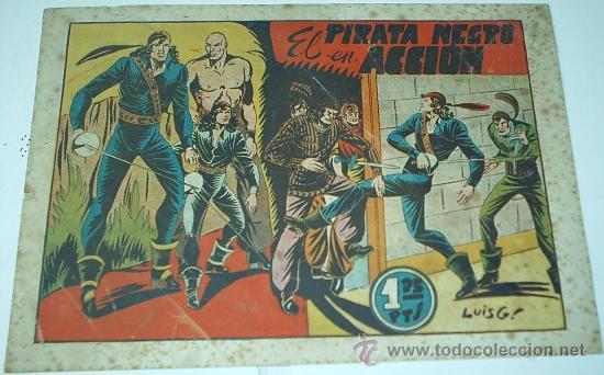 EL PIRATA NEGRO Nº 5 -- BRUGUERA 1948 -- ORIGINAL (Tebeos y Comics - Bruguera - Otros)