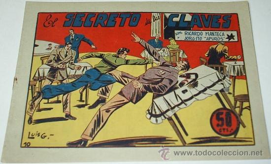RICARDO MANTECA Nº 10 - BRUGUERA 1947 - ORIGINAL- LEER DESCRIP. (Tebeos y Comics - Bruguera - Otros)