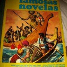 Tebeos: FAMOSAS NOVELAS - VOLUMEN IV (1973) - HUCK FINN, SANDOKAN, JULIO CESAR. Lote 39086888