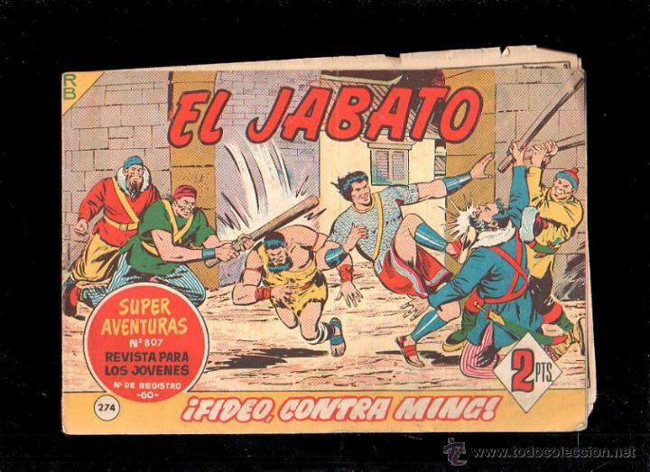 EL JABATO. FIDEO, CONTRA MING. Nº 274. ORIGINAL. 1963. EL DE LA FOTO (Tebeos y Comics - Bruguera - Jabato)