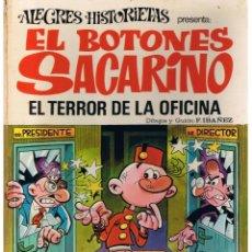 Tebeos: ALEGRES HISTORIETAS: EL BOTONES SACARINO NUMERO 12 . BRUGUERA 1971(VI/9). Lote 47939516