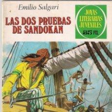 Tebeos: JOYAS LITERARIAS JUVENILES Nº 207.LAS DOS PRUEBAS DE SANDOKÁN.. Lote 40145726