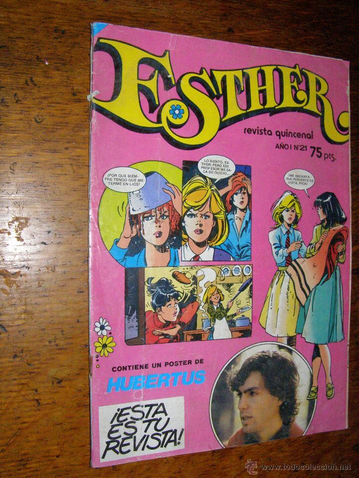 ESTHER.- Nº 21 - OCTUBRE DE 1982 - POSTER DE HUBERTUS - (Tebeos y Comics - Bruguera - Esther)