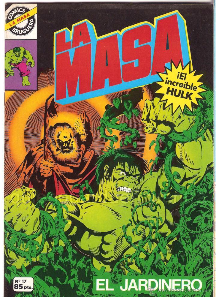 COMIC LA MASA-EL INCREIBLE HULK-4 COMICS BRUGUERA 1981-1982-NUEVOS 7-17-26-28 (Tebeos y Comics - Bruguera - Cuadernillos Varios)