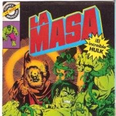 Tebeos: COMIC LA MASA-EL INCREIBLE HULK-4 COMICS BRUGUERA 1981-1982-NUEVOS 7-17-26-28. Lote 57247304