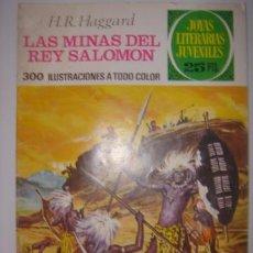 Tebeos: JOYAS LITERARIAS JUVENILES. LAS MINAS DEL REY SALOMON. H.R.HAGGARD. Nº156.BRUGUERA.1976. Lote 40482078