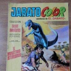 Tebeos: JABATO COLOR. AVENTURAS DE EL JABATO, Nº 37. EL MONSTRUO ATERRADOR - VÍCTOR MORA. Lote 38358418