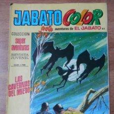 Tebeos: JABATO COLOR. AVENTURAS DE EL JABATO, Nº 82. LAS CAVERNAS DEL MIEDO - VÍCTOR MORA. Lote 38358526