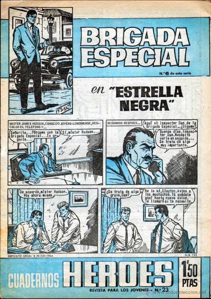 TEBEOS-COMICS GOYO - CUADERNOS HEROES 6 - ULTIMO - BRIGADA ESPECIAL - 1964 *AA99 (Tebeos y Comics - Bruguera - Cuadernillos Varios)