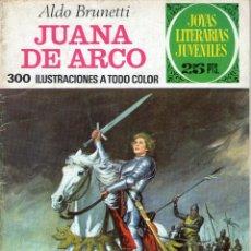 Tebeos: JOYAS LITERARIAS JUVENILES - Nº 109 - JUANA DE ARCO - ALDO BRUNETTI - BRUGUERA - AÑO 1977.. Lote 40684151