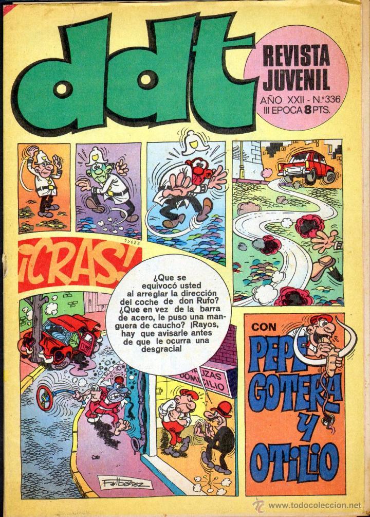 TEBEOS-COMICS GOYO - DDT - Nº 336 - BRUGUERA - 1967 - RARO *BB99 (Tebeos y Comics - Bruguera - DDT)