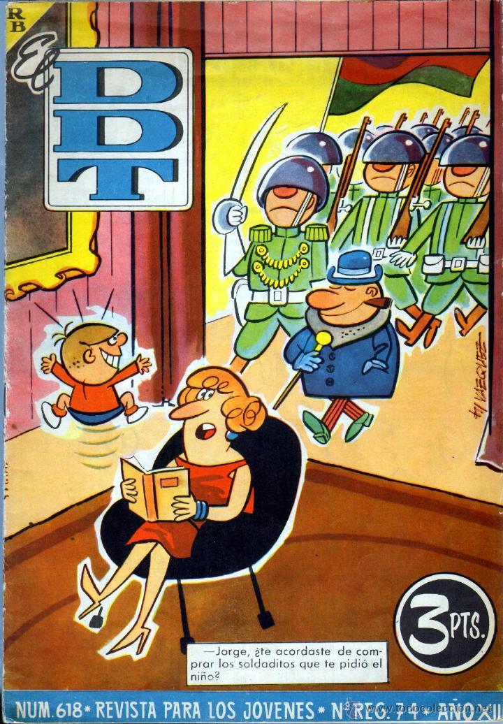 TEBEOS-COMICS GOYO - DDT - Nº 618 - BRUGUERA - 1951 - RARO *BB99 (Tebeos y Comics - Bruguera - DDT)