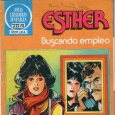 Tebeos: JOYAS LITERARIAS JUVENILES - SERIE AZUL - Nº 71 - ESTHER - BUSCANDO EMPLEO - BRUGUERA - AÑO 1982.. Lote 41001744