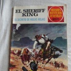 Tebeos: GRANDES AVENTURAS JUVENILES - EL SHERIFF KING - EL SECRETO DE ROCAS ROJAS Nº 21. Lote 41113485
