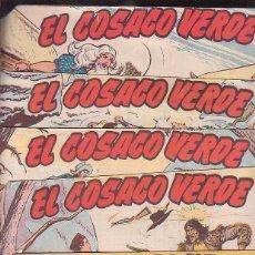 Tebeos: EL COSACO VERDE, LOTE 9 EJEMPLARES - ORIGINALES. Lote 41225495
