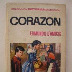 Tebeos: CORAZÓN - EDMUNDO D' AMICIS - HISTORIAS SELECCIÓN - CLÁSICOS JUVENILES Nº 11 - BRUGUERA - AÑO 1966.. Lote 121864610