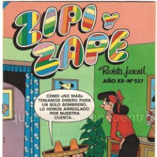 Tebeos: 2 COMICS ZIPI Y ZAPE Nº 500-537 AÑO XI BRUGUERA-NUEVO 1982-83 DÀRTACAN-LEGOLAND. Lote 41399525