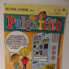 Tebeos: REVISTA JUVENIL PULGARCITO Nº 10. ED BRUGUERA 1986. CON PEGATINA PROMOCIONAL DE YOPLAIT EN PORTADA. Lote 41551560