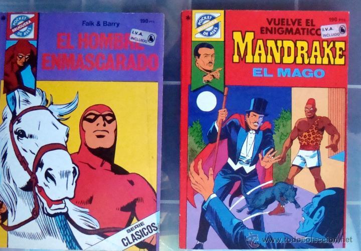 POCKET DE ASES-Nº 33-38-MANDRAKE EL MAGO 39-EL HOMBRE ENMASCARADO DE BRUGUERA 1984 NUEVOS (Tebeos y Comics - Bruguera - Cuadernillos Varios)