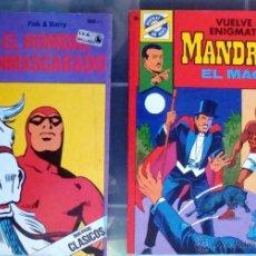 Tebeos: POCKET DE ASES-Nº 33-38-MANDRAKE EL MAGO 39-EL HOMBRE ENMASCARADO DE BRUGUERA 1984 NUEVOS. Lote 42070527