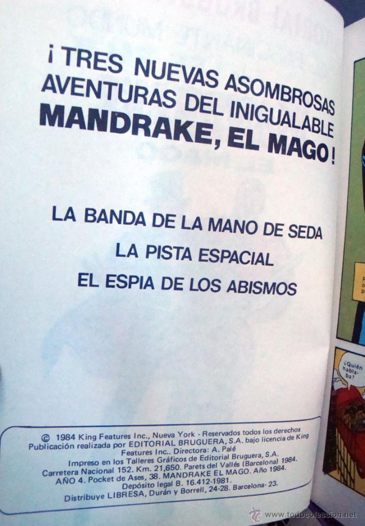 Tebeos: Pocket de ases-Nº 33-38-Mandrake el Mago 39-El hombre enmascarado de Bruguera 1984 nuevos - Foto 3 - 42070527