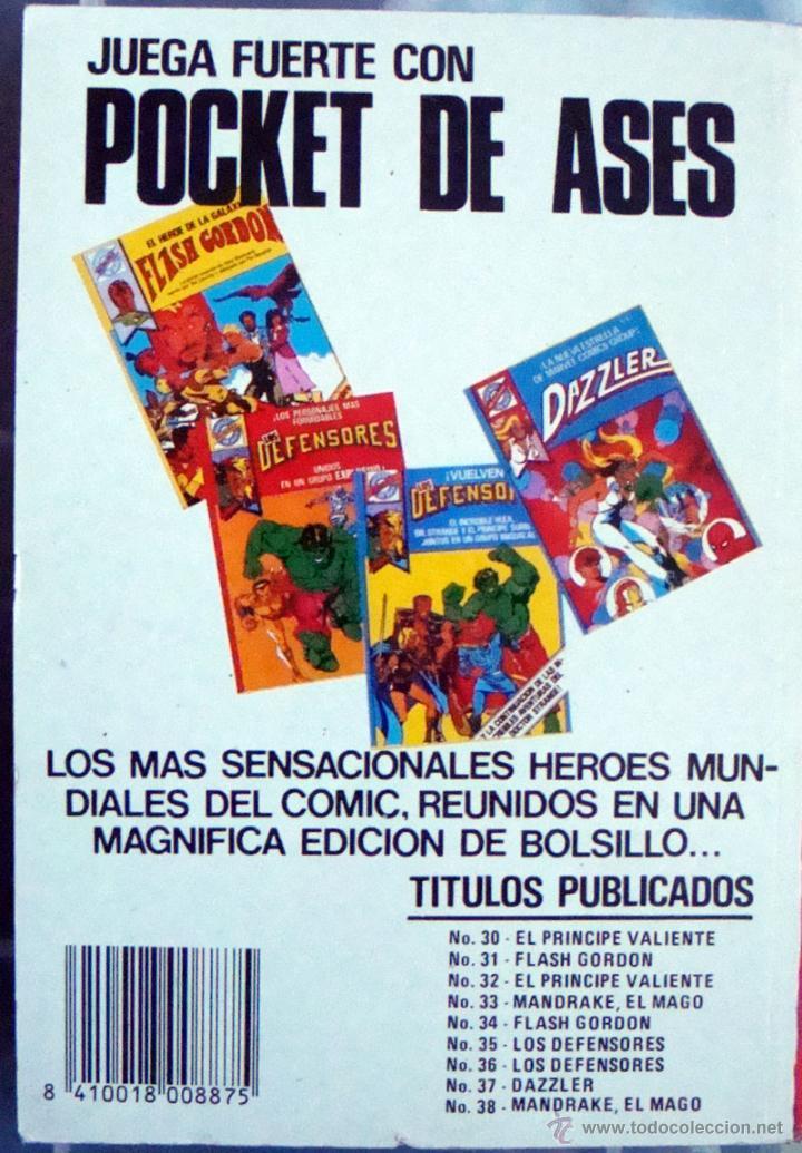 Tebeos: Pocket de ases-Nº 33-38-Mandrake el Mago 39-El hombre enmascarado de Bruguera 1984 nuevos - Foto 5 - 42070527