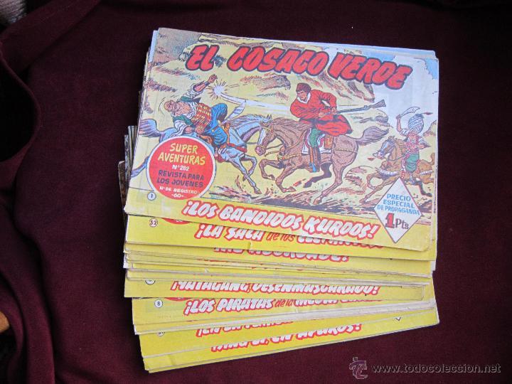 LOTE 36 CÓMICS DE EL COSACO VERDE. VICTOR MORA. BRUGUERA.ORIGINALES. 1960. TEBENI MBE (Tebeos y Comics - Bruguera - Cosaco Verde)