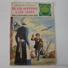 Tebeos: JOYAS LITERARIAS Nº 75 DE LOS APENINOS A LOS ANDES 1973. Lote 42371887