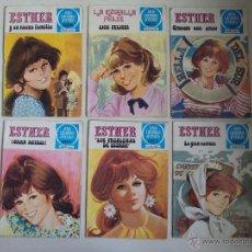 Tebeos: LOTE DE 6 TEBEOS JOYAS LITERARIS JUVENILES, SERIE AZUL. ESTHER 1978.. Lote 42595046