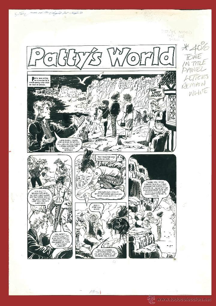 3 PAGINAS ( HISTORIA COMPLETA ) DE ESTHER Y SU MUNDO ( PATTY´S WORLD IN UK ) PURITA CAMPOS (Tebeos y Comics - Bruguera - Esther)