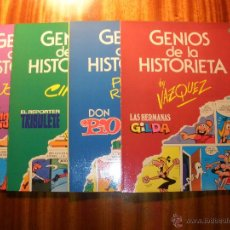 Tebeos: GENIOS DE LA HISTORIETA - ED. BRUGUERA, 1985 - COMPLETA 4 Nº (VER OBSERVACIONES). Lote 42917463