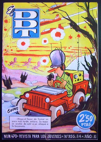 TEBEO-REVISTA EL DDT . PRIMERA ÉPOCA . Nº 470 . EXCELENTE (Tebeos y Comics - Bruguera - DDT)
