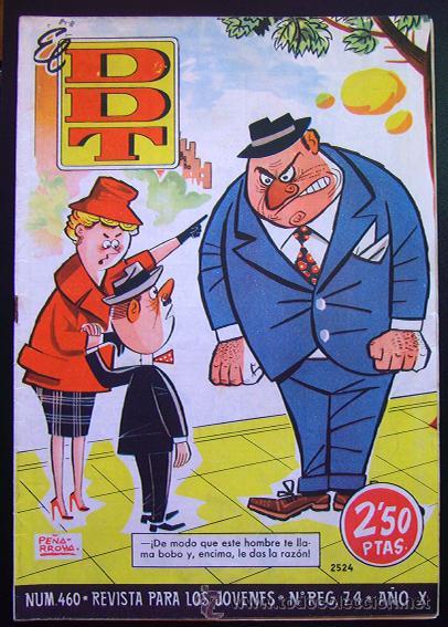 TEBEO-REVISTA EL DDT . PRIMERA ÉPOCA . Nº 460 . EXCELENTE (Tebeos y Comics - Bruguera - DDT)