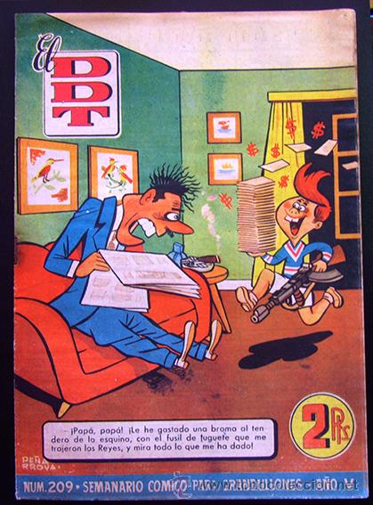 TEBEO-REVISTA EL DDT . PRIMERA ÉPOCA . Nº 209 (Tebeos y Comics - Bruguera - DDT)