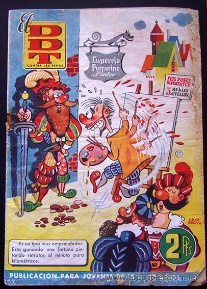 TEBEO-REVISTA EL DDT . PRIMERA ÉPOCA . Nº 10 (Tebeos y Comics - Bruguera - DDT)