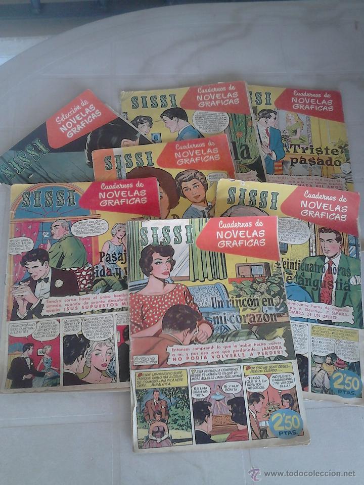 LOTE DE 7 REVISTAS ANTIGUAS SISSI EDITORIAL BRUGUERA. 1959. COMIC. VER FOTOS (Tebeos y Comics - Bruguera - Sissi)