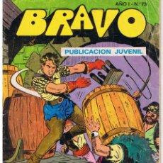 Tebeos: BRAVO. Nº 73. EL CACHORRO. Nº 37. SIETE LATIGOS. BRUGUERA 1976. Lote 43760375