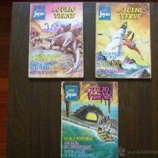 Tebeos: LOTE 3 TEBEOS JULIO VERNE SUPER JOYAS LITERARIAS BRUGUERA AÑOS 70. Lote 43807938