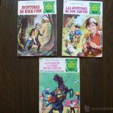Tebeos: LOTE 3 TEBEOS MARK TWAIN JOYAS LITERARIAS BRUGUERA AÑOS 70. Lote 43808432