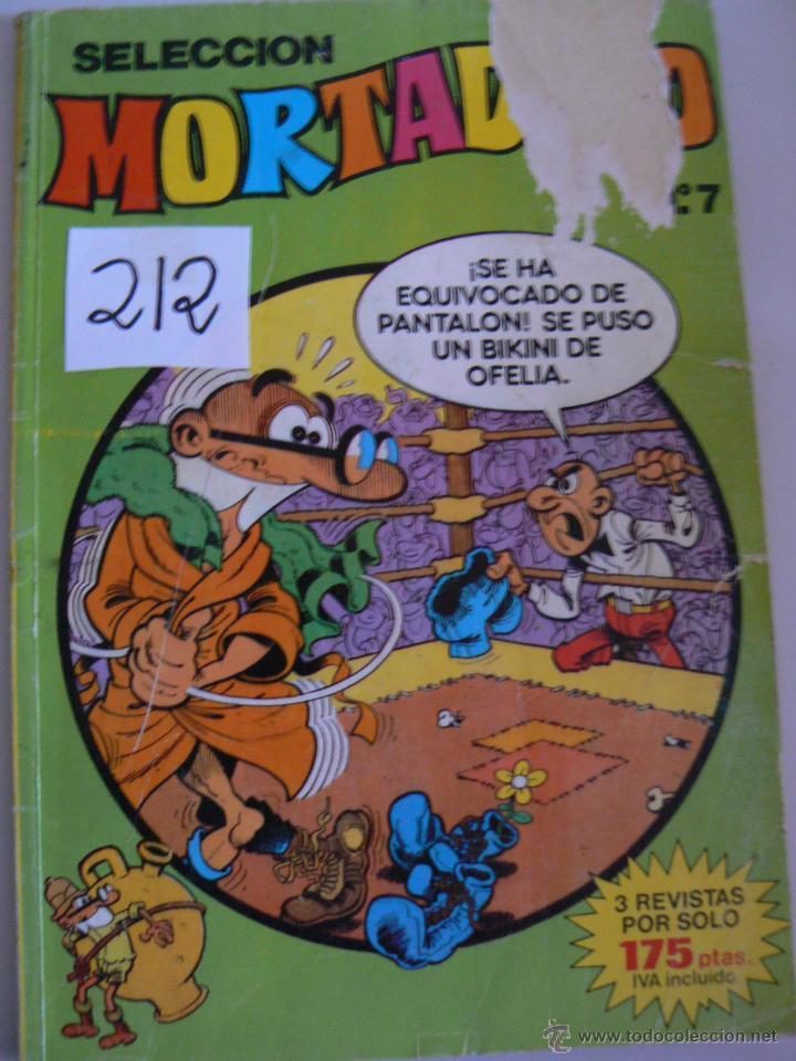 MORTADELO Y FILIMON N,7 AÑO 1.986 (Tebeos y Comics - Bruguera - Mortadelo)