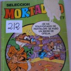 Tebeos: MORTADELO Y FILIMON N,7 AÑO 1.986. Lote 43820560