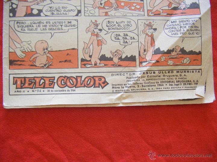 Tebeos: JML LUPY EL LOBO BONDADOSO, TELE COLOR, JESUS ULLED MURRIETA, BRUGUERA, AÑO II, Nº 94, 1964. 24PÁG. - Foto 2 - 44048558